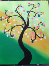 Whimsical Spring Tree